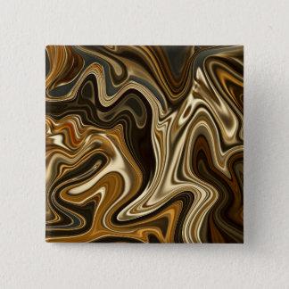 Bóton Quadrado 5.08cm Estilo de mármore lindo - marrom morno