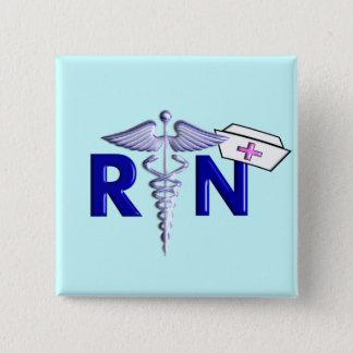 Bóton Quadrado 5.08cm Estilo Presente-Gravado do RN (enfermeira