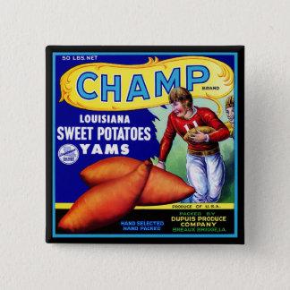 Bóton Quadrado 5.08cm Etiqueta da caixa do vintage - batatas doces do