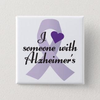 Bóton Quadrado 5.08cm Eu amo alguém com Alzheimers