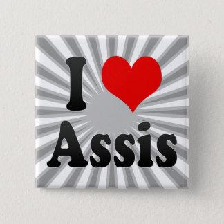 Bóton Quadrado 5.08cm Eu amo Assis, Brasil