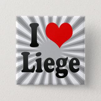 Bóton Quadrado 5.08cm Eu amo Liege, Bélgica