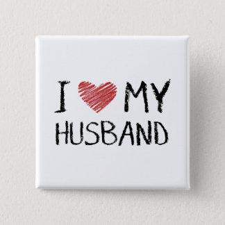 Bóton Quadrado 5.08cm Eu amo meu marido