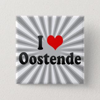 Bóton Quadrado 5.08cm Eu amo Oostende, Bélgica