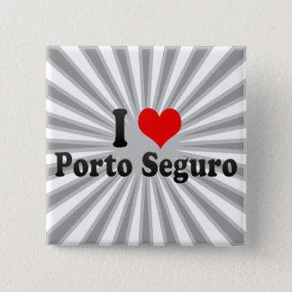 Bóton Quadrado 5.08cm Eu amo Porto Seguro, Brasil