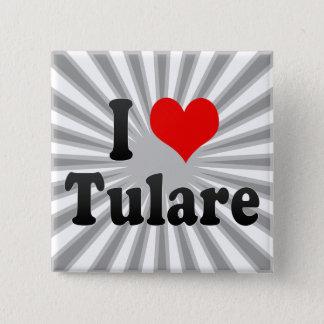 Bóton Quadrado 5.08cm Eu amo Tulare, os Estados Unidos