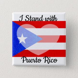 Bóton Quadrado 5.08cm Eu estou com botão de Puerto Rico