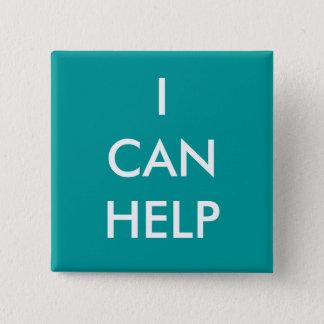 Bóton Quadrado 5.08cm Eu posso ajudar os eventos voluntários da caridade