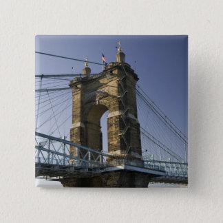 Bóton Quadrado 5.08cm EUA, Ohio, Cincinnati: Suspensão 3 de Roebling