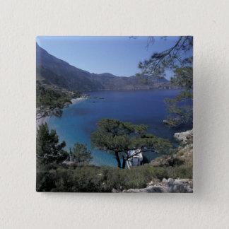 Bóton Quadrado 5.08cm Europa, piscina, Karpathos, Dodecanese; Apella