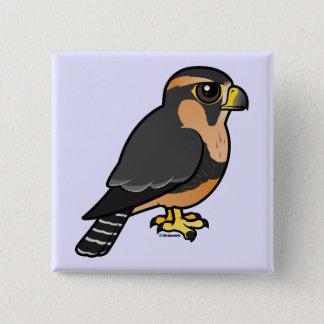 Bóton Quadrado 5.08cm Falcão peruano de Birdorable Aplomado