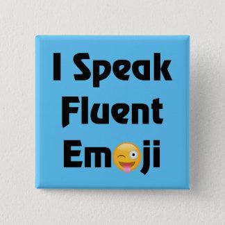 Bóton Quadrado 5.08cm Fale Emoji fluente