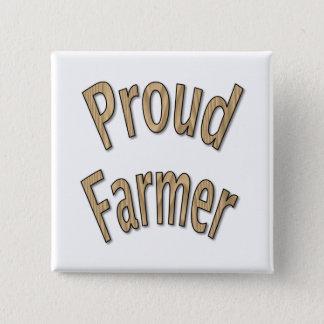 Bóton Quadrado 5.08cm Fazendeiro orgulhoso