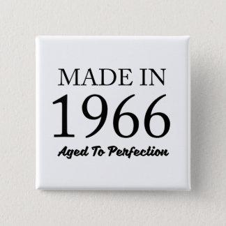 Bóton Quadrado 5.08cm Feito em 1966