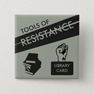 Bóton Quadrado 5.08cm Ferramentas da resistência: Cartão & livros de