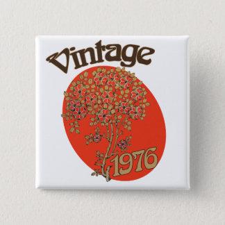 Bóton Quadrado 5.08cm Festa de aniversário 1976 do vintage
