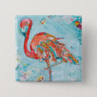 Bóton Quadrado 5.08cm Flamingo brilhante
