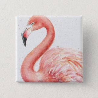 Bóton Quadrado 5.08cm Flamingo   cor-de-rosa tropical