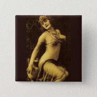 Bóton Quadrado 5.08cm Flapper no Sepia 1