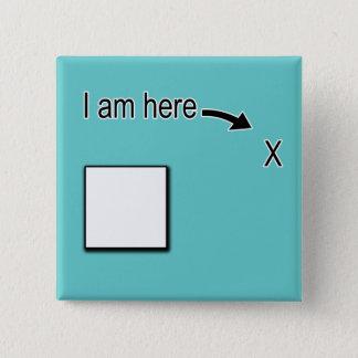 Bóton Quadrado 5.08cm Fora da caixa