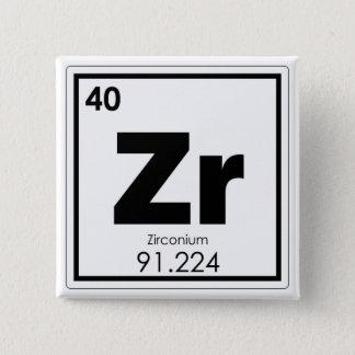 Bóton Quadrado 5.08cm Formul da química do símbolo do elemento químico