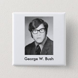 Bóton Quadrado 5.08cm Foto do anuário de George W. Bush