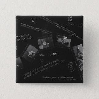 Bóton Quadrado 5.08cm Fotograma da leitura