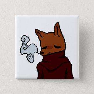 Bóton Quadrado 5.08cm Fox frio (botão quadrado de 2 polegadas)