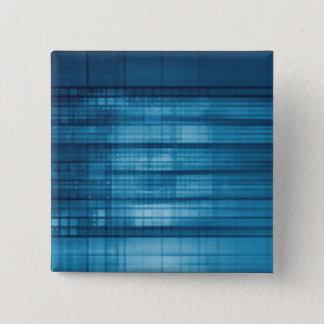 Bóton Quadrado 5.08cm Fundo do mosaico da tecnologia como uma arte do