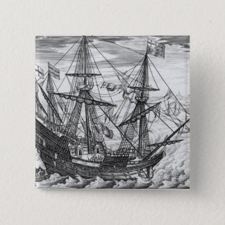 Bóton Quadrado 5.08cm Galleon da rainha Elizabeth