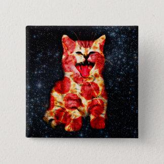 Bóton Quadrado 5.08cm gato da pizza - gatinho - gatinho