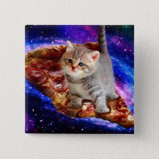 Bóton Quadrado 5.08cm gato da pizza - gatos bonitos - gatinho - gatinhos