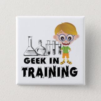 Bóton Quadrado 5.08cm Geek na química do treinamento