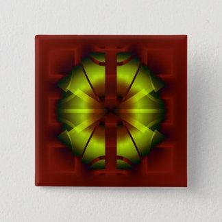 Bóton Quadrado 5.08cm Geometria do Fractal