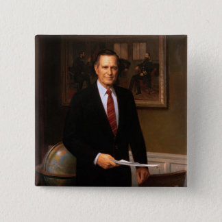 Bóton Quadrado 5.08cm George Bush