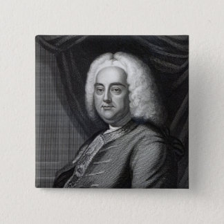 Bóton Quadrado 5.08cm George Frederic Handel, gravado por Thomson