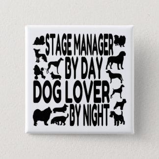Bóton Quadrado 5.08cm Gerente de palco do amante do cão