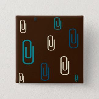 Bóton Quadrado 5.08cm Grampos de papel
