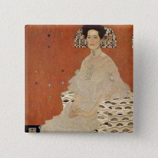 Bóton Quadrado 5.08cm GUSTAVO KLIMT - Retrato de Fritza Riedler 1906