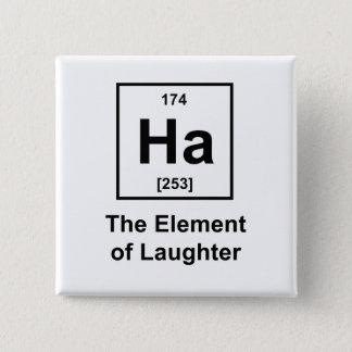 Bóton Quadrado 5.08cm Ha, o elemento do riso