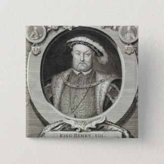 Bóton Quadrado 5.08cm Henry VIII (1491-1547), após uma pintura no Ro