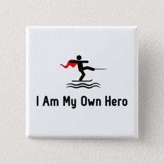 Bóton Quadrado 5.08cm Herói do esqui aquático