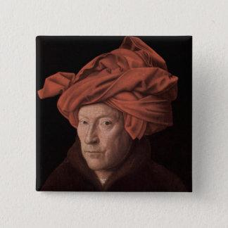 Bóton Quadrado 5.08cm Homem em um turbante