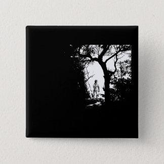 Bóton Quadrado 5.08cm Homem-lobo no botão da floresta
