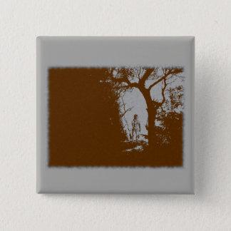 Bóton Quadrado 5.08cm Homem-lobo no botão da variação da floresta