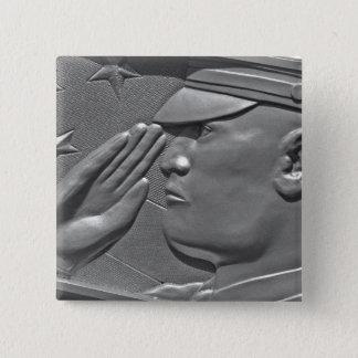 Bóton Quadrado 5.08cm Honra militar do herói do veterano