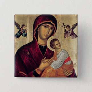 Bóton Quadrado 5.08cm Ícone que descreve a mãe santamente da paixão