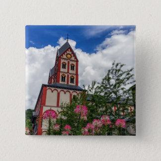 Bóton Quadrado 5.08cm Igreja de St Bartholomew, Liege, Bélgica