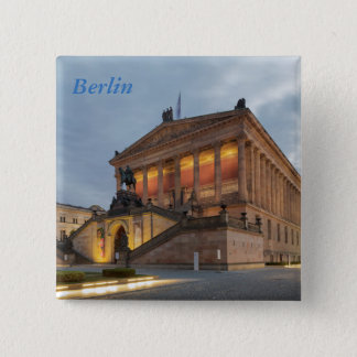 Bóton Quadrado 5.08cm Ilha de museu em Berlim