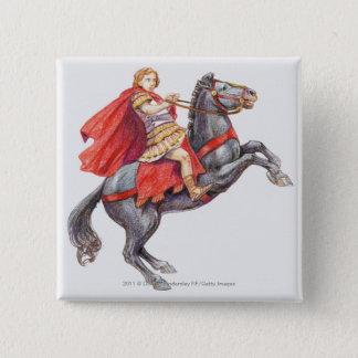Bóton Quadrado 5.08cm Ilustração de Alexander o excelente
